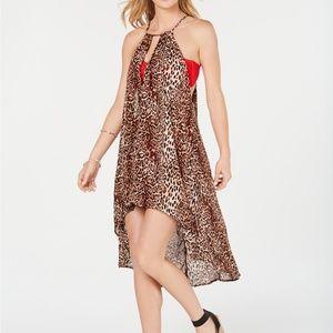 I.N.C. Leopard Animal Print High Low Beach Dress